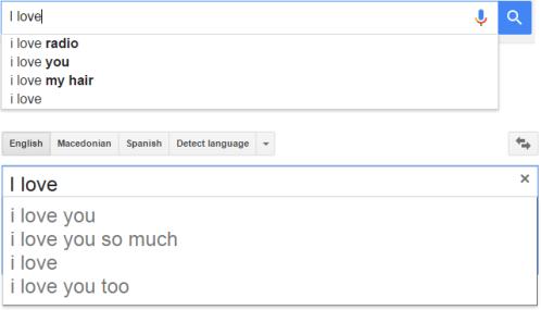 I love - Google